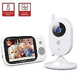 Victure Baby Monitor, Videocamera Babyphone con VOX Visione Notturna Visione di...