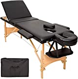 BOUDECH Panca per Massaggi 3 Zone PROFESS. Lettino Estetista Portatile Nero...