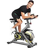 ANCHEERCyclette da Casa, Bici da Spinning, Esercizio di Bicicletta,Volantino...
