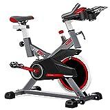 FITFIU Fitness BESP-100 Spin Bike con Disco D'Inerzia da 16 Kg e Resistenza...