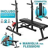 Sportstech Panca Pesi 21in1 innovativa con Supporto & Presa per Flessioni,...