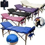 Lettino Massaggio 3 Zone in Legno Portatile -Dimensione 180x56 CM-PESA Solo...