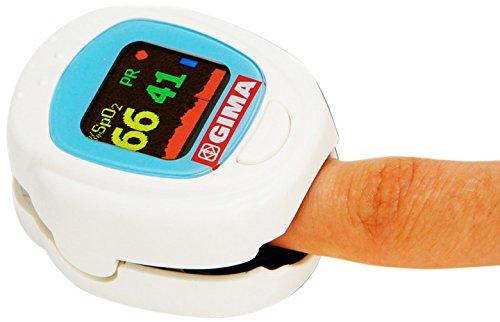 Il pulsossimetro Oxy-Ped è stato studiato per offrire i migliori risultati in campo pediatrico. L'apertura è adatta alle dita dei bambini di età maggiore di 2 anni (con diametro compreso fra 8/16 mm), ha in dotazione due batterie al litio ricaricabili, caricabatterie, custodia e corda per trasporto.