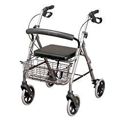 Deambulatore con rotelle per anziani