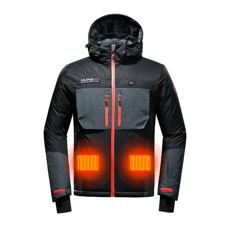 gilet riscaldato elettrico lavabile regolabile carica usb riscaldamento giacca...